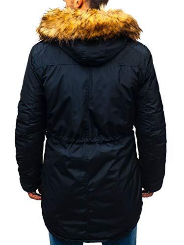 Capuche 4d4 Homme Parka Bolf Veste Bleu D'hiver Blouson Foncé 5322 Fourrure qxft0