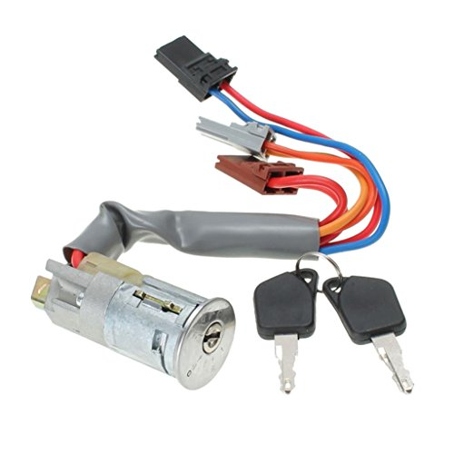 MagiDeal Ignition Switch & Lock Barrel With 2 Keys For PEUGEOT 306 93-97