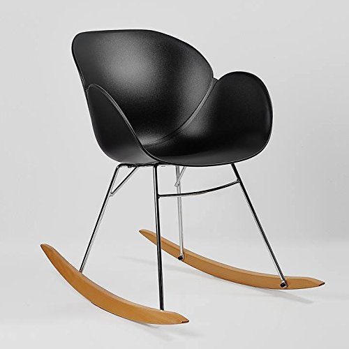 Kline Beechwood Rocking Chair - Black by Torre & Tagus