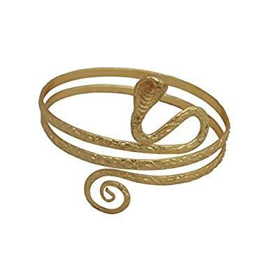 Cheap Gold Tone Metal Upper Arm Snake Bracelet Adjustable for sale n4saupcq
