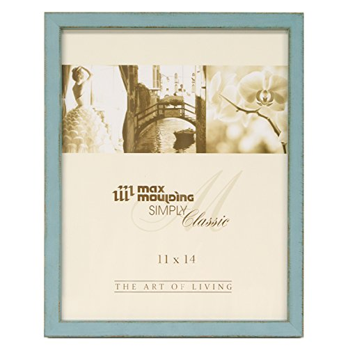 Maxxi Designs Gallery Frame with Sawtooth Hanger, 16 x 20, Blue St. Tropez