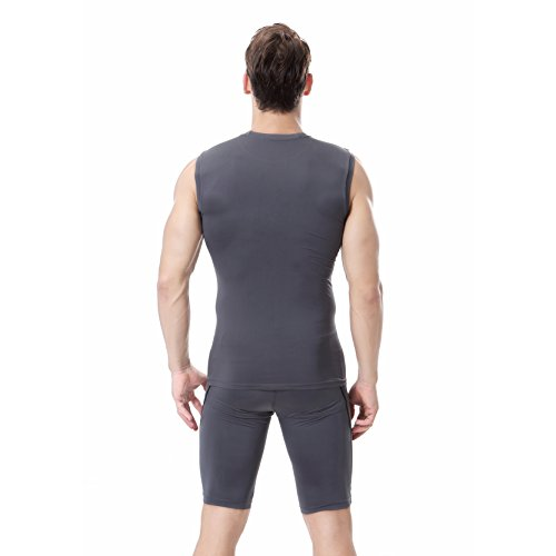 YCXMen jogging fast running sleeveless jogging t shirt