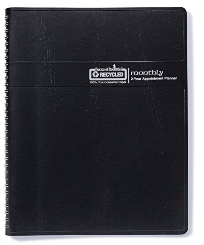 House of Doolittle 2019-2020 Two Year Calendar Planner, Monthly, Black Cover, 8.5 x 11 Inches, January - December (HOD262002-19)