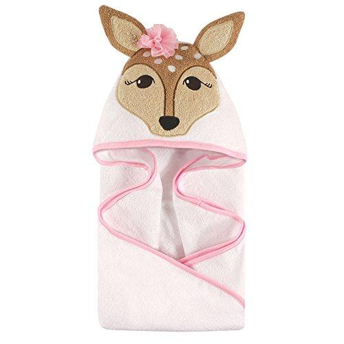 Beach Face Towel (Hudson Baby Animal Hooded Towel, Fawn, 33''x33'')