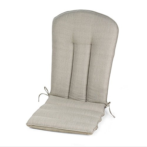 Light Gray Grey Outdoor Patio Adirondack Chair Cushion Seasonal Replacement (Adirondack Lights Pads)