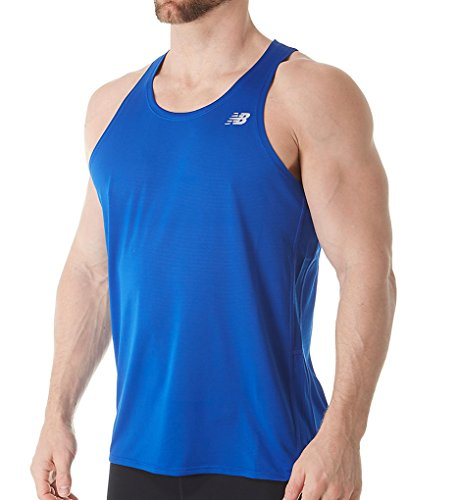 New Balance Mens Accelerate Singlet Team Royal 2XL One Size