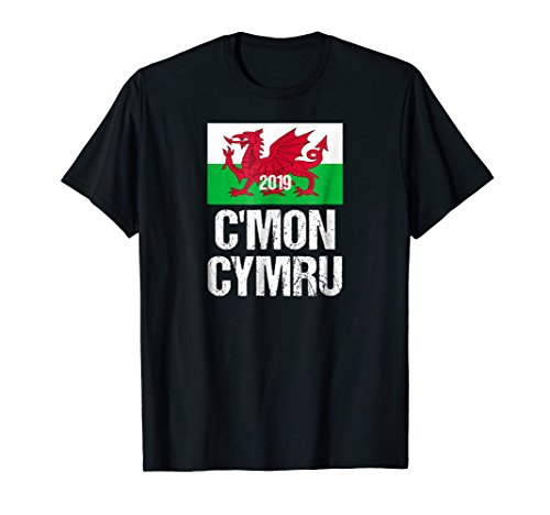 Rugby World Cup T-shirts - Cmon Cymru, Wales World Rugby Team T-shirt 2019