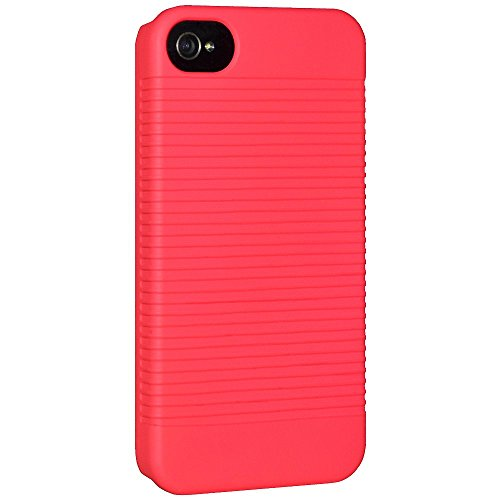 Amzer Snap-On Shell Case for iPhone 4/4S - Retail Packaging - Neon Coral (Coral Iphone 4 Case)