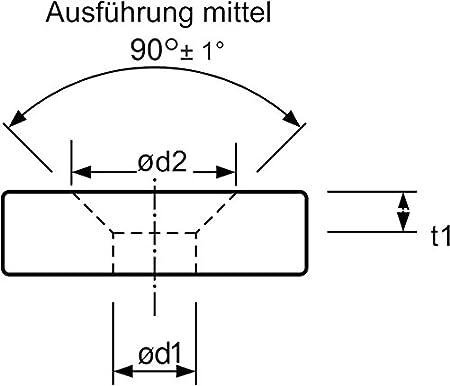 /Ø 31,0 mm 74BF M16fein DIN 335 C mit 3 Schneiden und Entgratsenker 90/° HSS Kegel mit Zylinderschaft