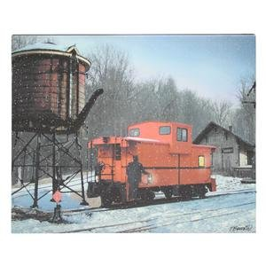 (Timeless by Design Canvas Prints Flickering Led Train Caboose Lighted Canvas Wall Hanging 20 X 16 X 0.75 Inches Multicolored)