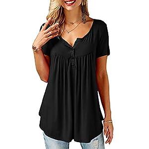 YOINS Camicia Donna Elegante Maglietta Camicetta Maniche Lunghe Scollo a V Fiori Casuale