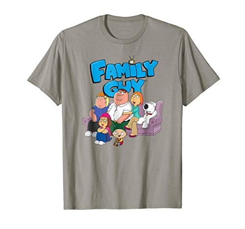 Family Guy Group with Logo No Distress T-shirt ()