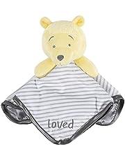 "Disney Baby Winnie the Pooh Security Blanket, White, 12"" x 12"""