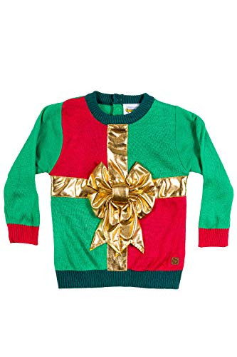 Tipsy Elves Baby Sweater - Cute Ugly Xmas Sweater for Infant: 6-12M Red