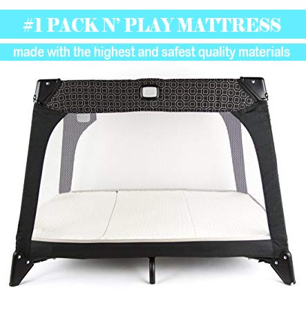 NapYou Amazon Exclusive Pack n Play Mattress, Convenient Fold with Bonus Easy Handle Carry Bag by NapYou (Image #2)