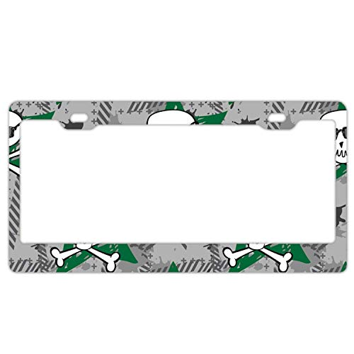 YEX Halloween Town License Plate Frame Novelty Car Licence Plate Covers Auto Tag Holder Tag Sign 12