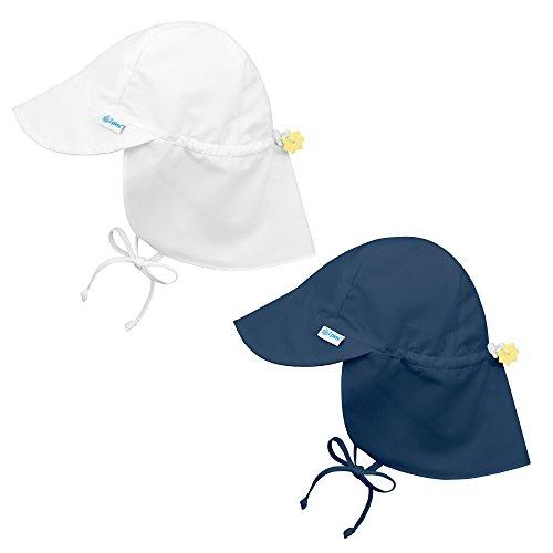 i play. 2 Pack UPF 50+ Sun Protection Flap Sun Hats/Beach Hats-2T-4T-Navy Blue