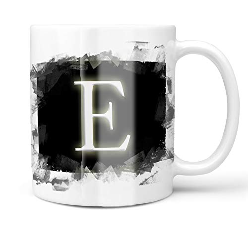 Neonblond 11oz Coffee Mug E black characters, letter with your Custom Name ()