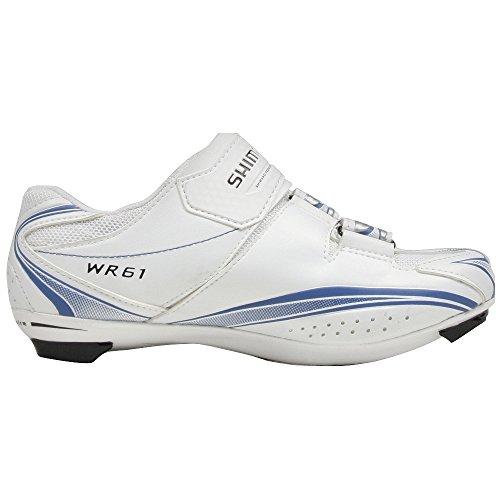 Shimano Frauen Pro Tour Rennrad Schuhe - SH-WR61 Weiß Blau