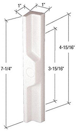 CRL White Plastic Outside Pull 3-15/16