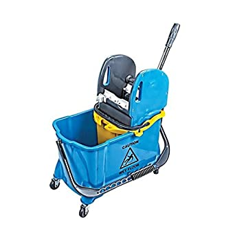 Aviva Star Cleaning Trolley 1 x 25 Litre Bucket Includes 10 Litre Bucket Cleaning Trolley Available in 4 Colours Red Yellow Cleaning Trolley High Quality Workmanship Green Blue