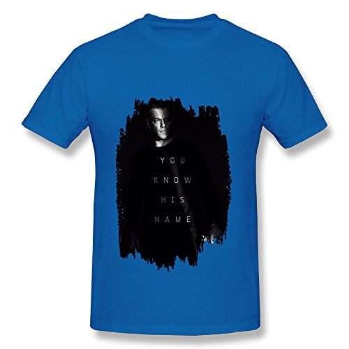 Bourne 5 Jason Bourne Action Spy Thriller Film RoyalBlue T Shirt For Men
