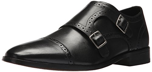 Bostonian Men's Nantasket Monk-Strap Loafer, Black Leather, 10.5 Medium US
