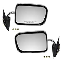 Driver and Passenger Manual Side View Mirrors 6x9 Standard Mount Chrome Replacement for Dodge Pickup Truck 55022241 55022240