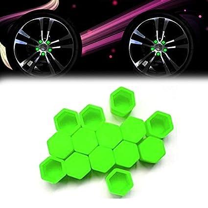 20 tapones de silicona para rueda de coche tuercas tornillos y cubiertas de /óxido verde pernos 17 mm tuercas