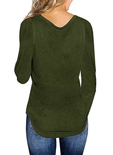 E V Lunga Autunno Maglioni Scollo Sottile Moda Sweater Primavera Unita T Pullover Tinta Maglieria Donne Jumper Casual shirts Tops Manica 0dqzB5xw