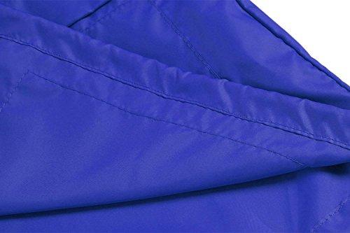 De Imperméable Casual Trésor Pluie Veste Capuche Mymotto L'extérieur Longues Pliable Manches Sport Bleu Femme À Cyclisme 5CqXxf7w