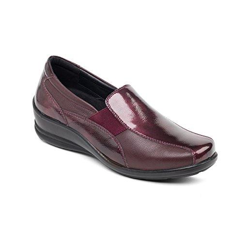 Cuero Gran Las Vino Anchura Mujeres Padders Cuerno 'skye' E Zapato Doble 35mm ee De Con Ajuste Sistema Libre Del Combi Talón g4wqw1ndEx