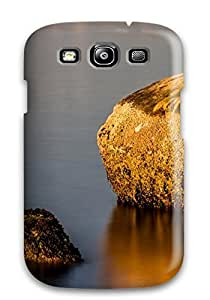 Awesome Girl In A Wetsuit Statue Flip Case With Fashion Design For Galaxy S3