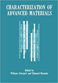 Book Characterization of Advanced Materials by W. Altergott (1991-09-30)