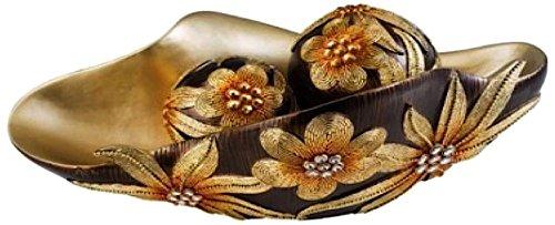 Ore International K-4250B Demeter Decorative Bowl with Sphere, 17.5-Inch, Gold