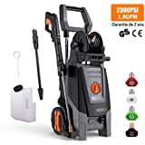 Pressure Washer, High Efficiency 2300 PSI 1.8 GPM 2000W Electric Power Washer, Pressurized Hose Reel and Lever Telescopic, with Detergent Tank and Rotating Nozzle Gun for Improved Cleaning Efficiency