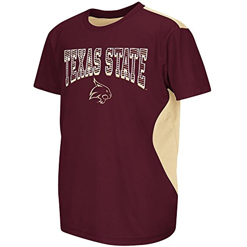 Youth NCAA Texas State Bobcats Performance Short Sleeve Tee Shirt (Team Color) - M