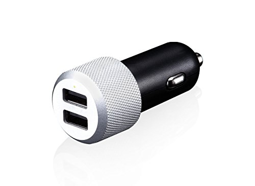Just Mobile CC128S Highway Aluminum 2-Port/2.4A Chic Car Charger by Just Mobile