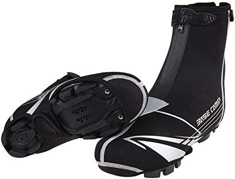 シューズカバー 自転車乗馬ブーツの男性が夜のライディングの安全性のための防水靴反射材を起動します 通勤 通学 自転車 登山 (Color : Black, Size : One size)