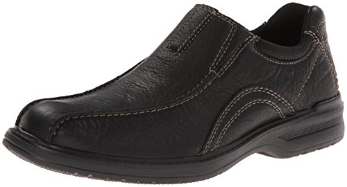 CLARKS Men's Sherwin Time, Black Tumbled Leather, 10 M US