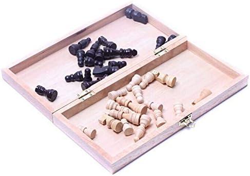CHUJIAN 30 * 30cm Folding Board Houten International stukken van het schaakspel Set Staunton Style schaakstukken Collection Portable Board Game