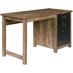 OneSpace Norwood Range 3-Drawer Locker Writing Desk, Oak