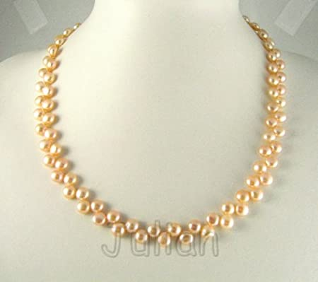 18'' 6mm Pink Freshwater Pearl Necklace J056