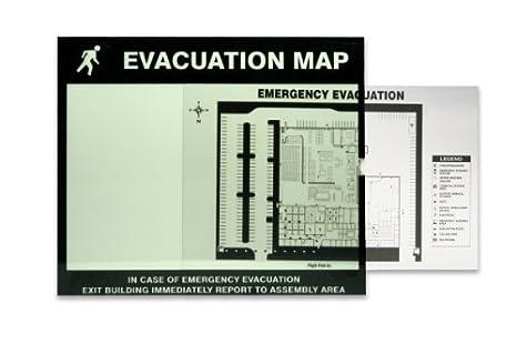 Accuform DTA202 Lumi-Glow Evacuation Map Holder, 8-1/2