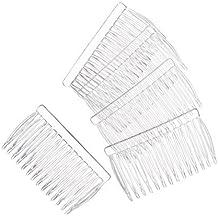 "JUXINDA 14 Clear Plain plastic Smooth Hair Clips/Combs 2 3/4"" LONGhair clip hair scrunchie hair scrunchies bridal hair comb"