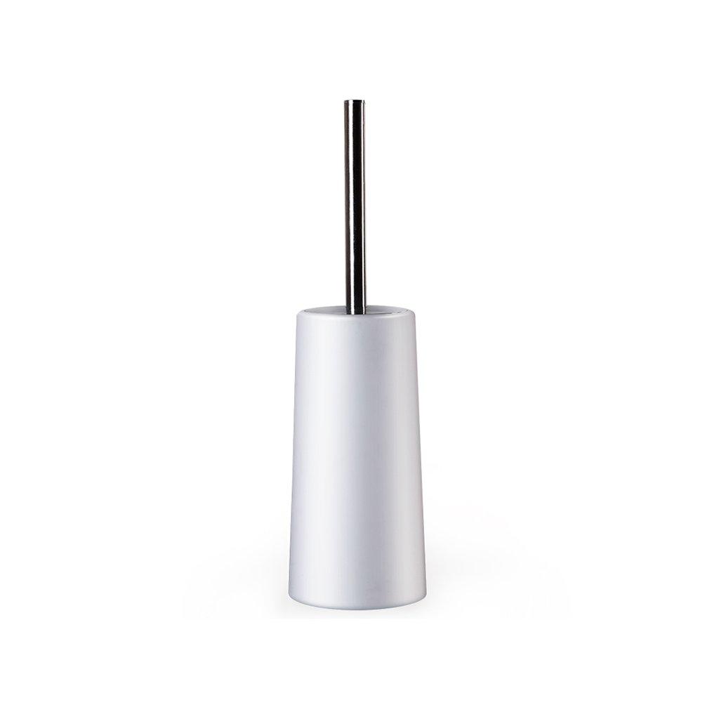 ZGP Toilet accessories Bathroom Toilet Brush Holder Stainless Steel Toilet Brush Soft Bristle Brush Fashion Creative Toilet Brush Cleaning Brush (Color : White)
