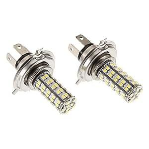 GD H4 6W 68x3020SMD 460lm 5500-6500K refrescan la lámpara LED de luz blanca para coche (12V)