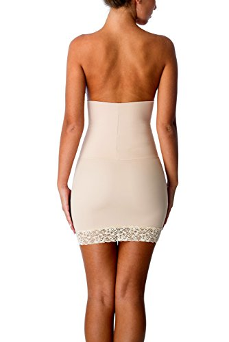 - CoverGirl Shapewear Firm Control Half Slip Shaper with Lace Seamless & Breathable Halfslip Dress for Women (XL,Nude)