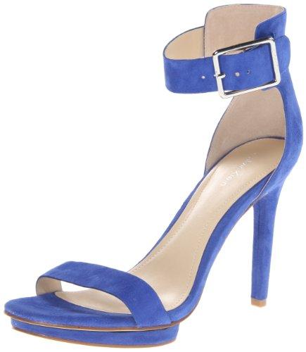 Calvin Klein Womens Vivian Suede Platform Sandal