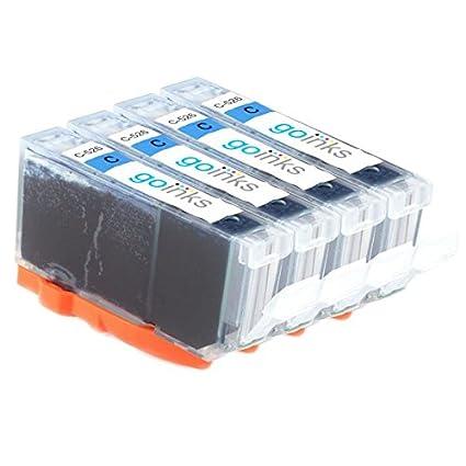 GO Inks c-cli526 C-4 Pack de 4 cartuchos de tinta compatible ...